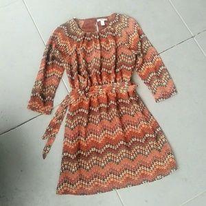 XXI Forever 21 Tribal Print Dress with Sash